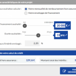 Banque Postale Crédit Immo - Mensualites Credit Immo