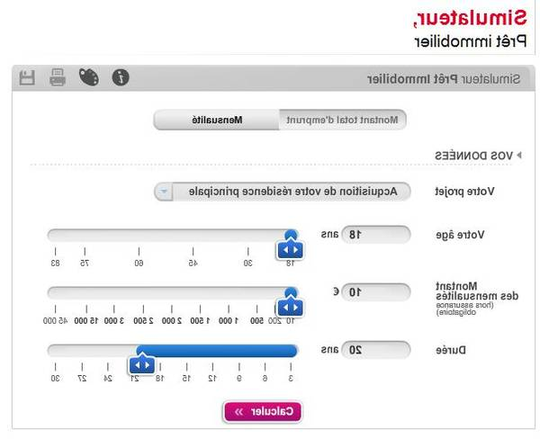 calcul taux credit immobilier